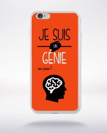 Coque je suis un genie ou pas 18 compatible iphone 6 transparent