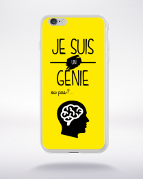 Coque je suis un genie ou pas 13 compatible iphone 6 transparent