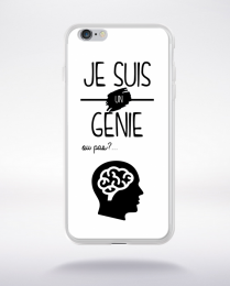 Coque je suis un genie ou pas 12 compatible iphone 6 transparent