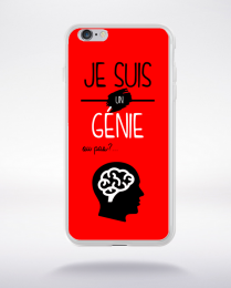 Coque je suis un genie ou pas 14 compatible iphone 6 transparent