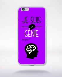 Coque je suis un genie ou pas 15 compatible iphone 6 transparent