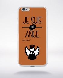 Coque je suis un ange ou pas 16 compatible iphone 6 transparent