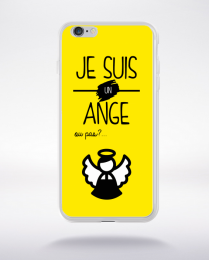 Coque je suis un ange ou pas 13 compatible iphone 6 transparent