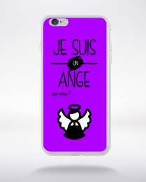 Coque je suis un ange ou pas 15 compatible iphone 6 transparent