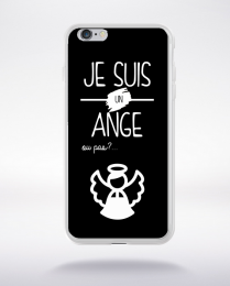 Coque je suis un ange ou pas 11 compatible iphone 6 transparent
