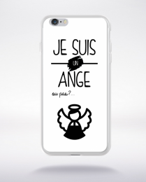 Coque je suis un ange ou pas 12 compatible iphone 6 transparent