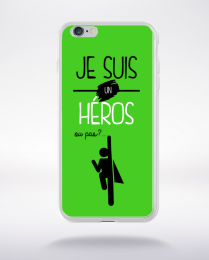 Coque je suis un heros ou pas 19 compatible iphone 6 transparent