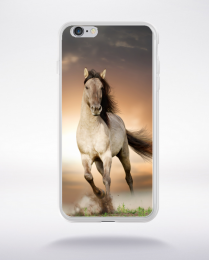 Coque cheval blanc compatible iphone 6 transparent