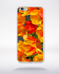 Coque champs de tulipes compatible iphone 6 transparent