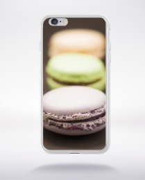 Coque macarons en ligne  compatible iphone 6 transparent