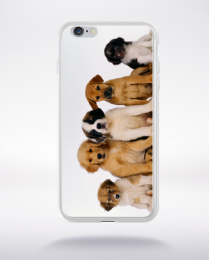 Coque cinq chiots compatible iphone 6 transparent