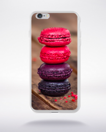 Coque macarons 3 compatible iphone 6 transparent