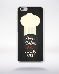 Coque keep calm and cook on  compatible iphone 6 transparent