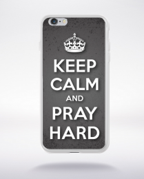 Coque keep calm and pray compatible iphone 6 transparent