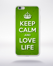 Coque keep calm and love life compatible iphone 6 transparent