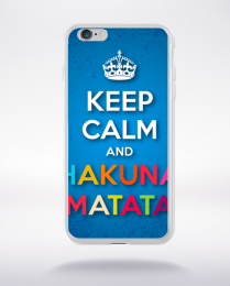 Coque keep calm and hakuna matata compatible iphone 6 transparent