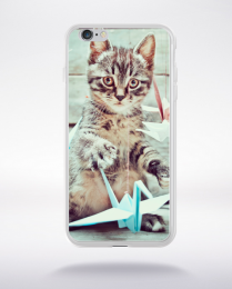 Coque petit chat  compatible iphone 6 transparent