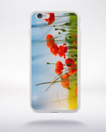 Coque coquelicots des champs compatible iphone 6 transparent