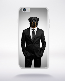 Coque tête de rottweiler compatible iphone 6 transparent