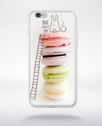 Coque macarons 4 compatible iphone 6 transparent