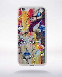 Coque graffiti abstrait compatible iphone 6 transparent