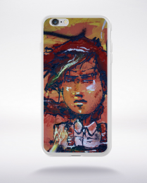 Coque graffiti visage compatible iphone 6 transparent