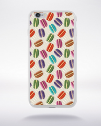 Coque macarons stylé compatible iphone 6 transparent