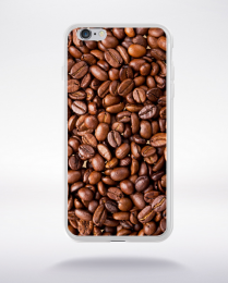 Coque grains de café compatible iphone 6 transparent