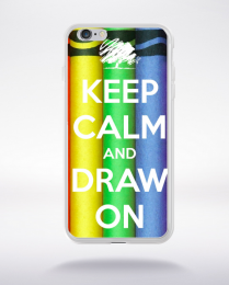 Coque keep calm and draw compatible iphone 6 transparent