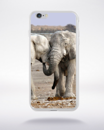 Coque couple éléphants compatible iphone 6 transparent
