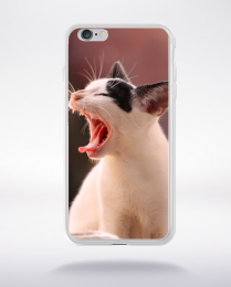 Coque le chat qui baille compatible iphone 6 transparent