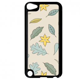 Coque autumn pattern 10 compatible ipod touch 5 bord noir