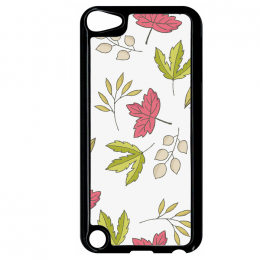 Coque autumn pattern 12 compatible ipod touch 5 bord noir