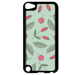 Coque autumn pattern 14 compatible ipod touch 5 bord noir