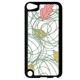 Coque autumn pattern 2 compatible ipod touch 5 bord noir