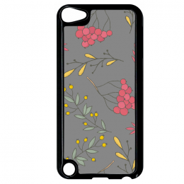 Coque autumn pattern 9 compatible ipod touch 5 bord noir
