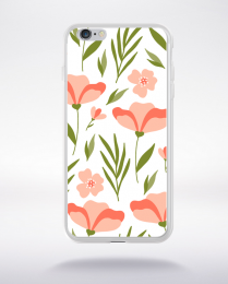 Coque blooming pattern 9 compatible iphone 6 transparent