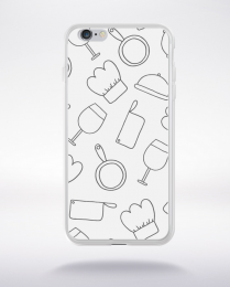 Coque cartoon pattern 8 compatible iphone 6 transparent