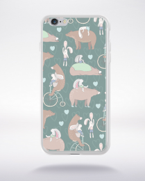 Coque cute forest pattern 1 compatible iphone 6 transparent