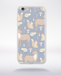 Coque cute forest pattern 3 compatible iphone 6 transparent