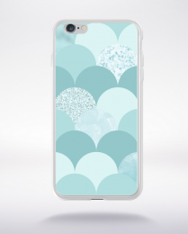 Coque abstract pattern 3 aquamarine compatible iphone 6 transparent