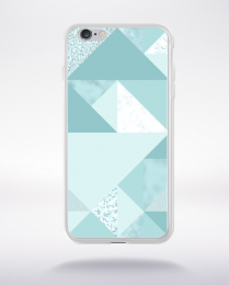 Coque abstract pattern 1 aquamarine compatible iphone 6 transparent