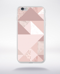 Coque abstract pattern 1 rose gold compatible iphone 6 transparent