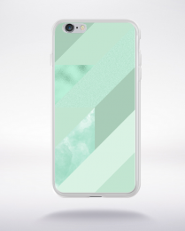 Coque abstract pattern 4 lucite green compatible iphone 6 transparent