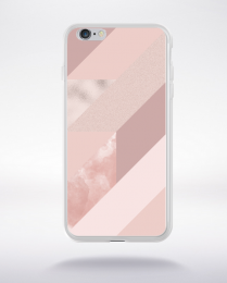 Coque abstract pattern 4 rose gold compatible iphone 6 transparent