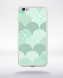 Coque abstract pattern 3 lucite green compatible iphone 6 transparent