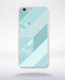 Coque abstract pattern 4 aquamarine compatible iphone 6 transparent