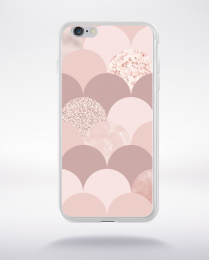 Coque abstract pattern 3 rose gold compatible iphone 6 transparent