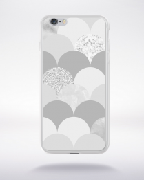 Coque abstract pattern 3 glasier gray compatible iphone 6 transparent