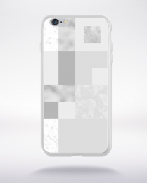 Coque abstract pattern 2 glasier gray compatible iphone 6 transparent